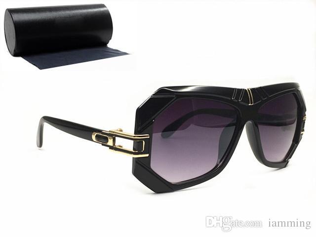 Marka tasarımcı güneş gözlüğü kutusu ile erkekler UV400 siyah çerçeve için moda punk tarzı okuma gözlükleri mans