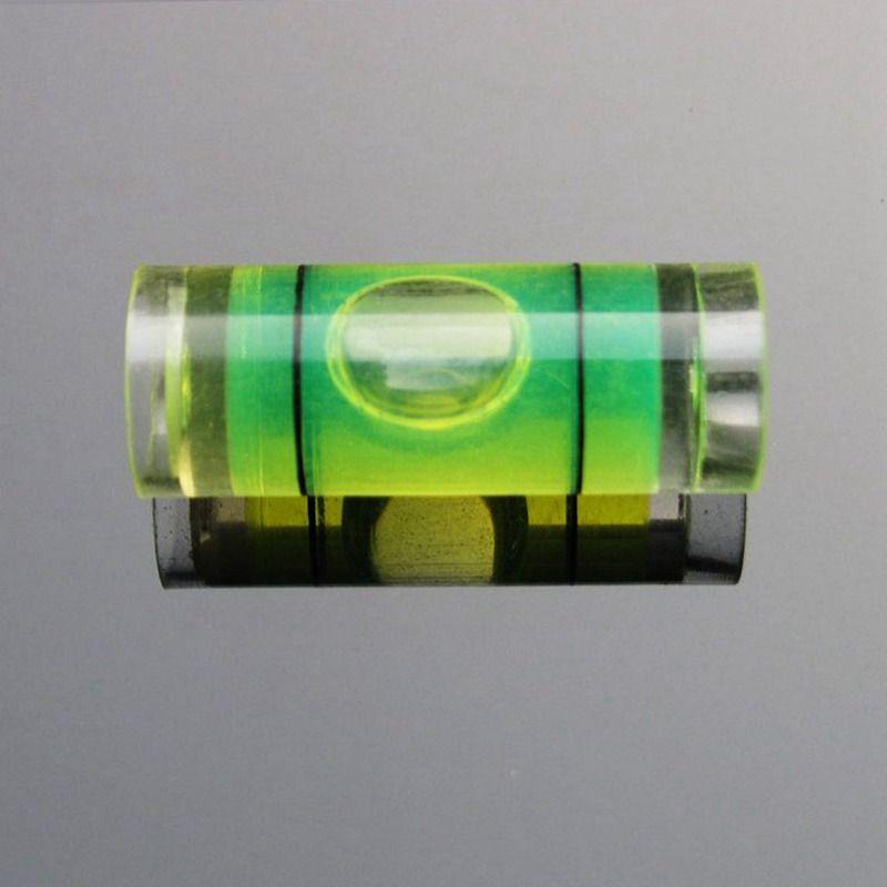 (50 قطعة / الكثير) 9.5 * 25 مم البلاستيك فقاعة المستوى فقاعة المستوى فقاعة المستوى للصورة أداة قياس مستوى الإطار
