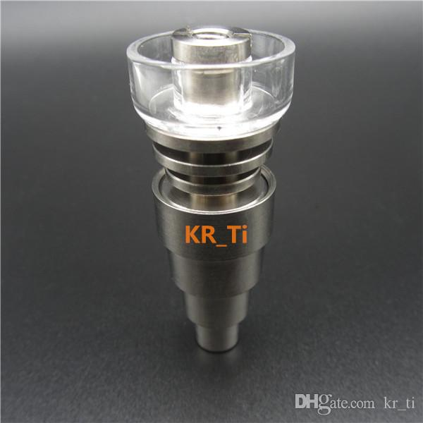 2016 가장 새로운 최고 품질의 GR2 6in1 티타늄 / 석영 하이브리드 조인트 10mm14mm18mm19mm 10 개 코일에 맞는 수 있습니다.