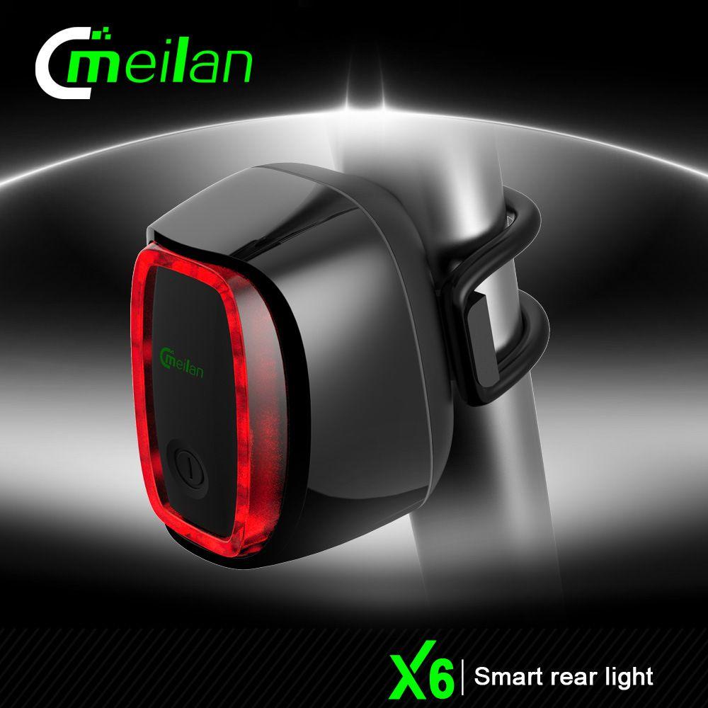 Smart Bicycle Rear Light Bike Cycling Tail Lamp 16 LED Movement Sensor USB Recha
