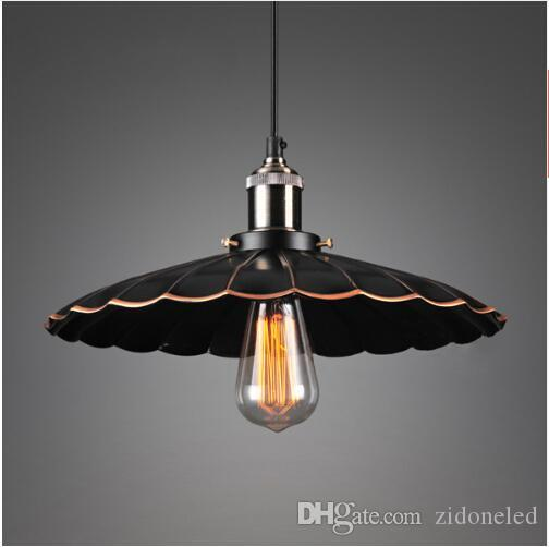 Loft colgante de luz de la vendimia de una sola cabeza restaurante luminaria E27 soporte de la lámpara para la decoración del restaurante de la cafetería