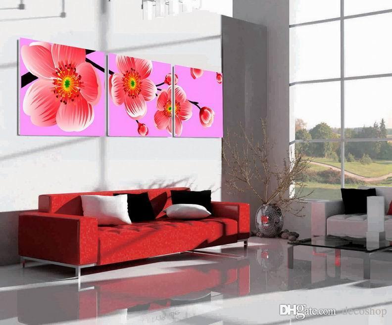 현대 아름다운 꽃 잘 꽃 그림 캔버스에 Giclee 인쇄 홈 장식 벽 예술 Set30340
