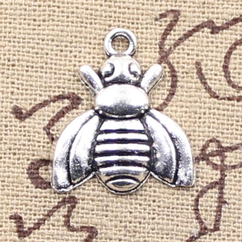 120pcs encantos de abeja 21 * 18 mm antiguo que hace el ajuste del colgante, Vintage plata tibetana, collar pulsera DIY