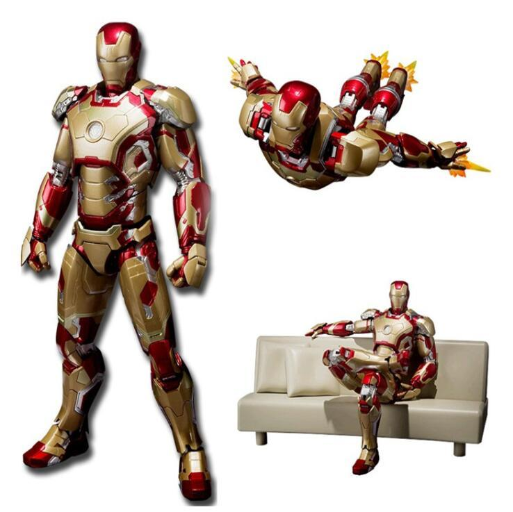 SHFiguarts Iron Man Mark 42 with Sofa PVC Action Figure Collectible Models Toys 15cm Free Shipping