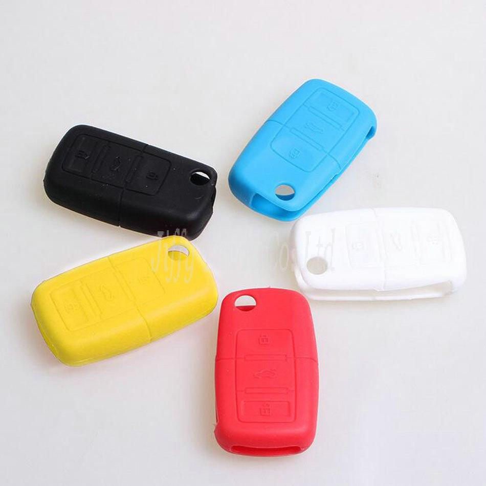 Silicone Remote Flip Key Fob Holder 3 Buttons Silicone Case Cover
