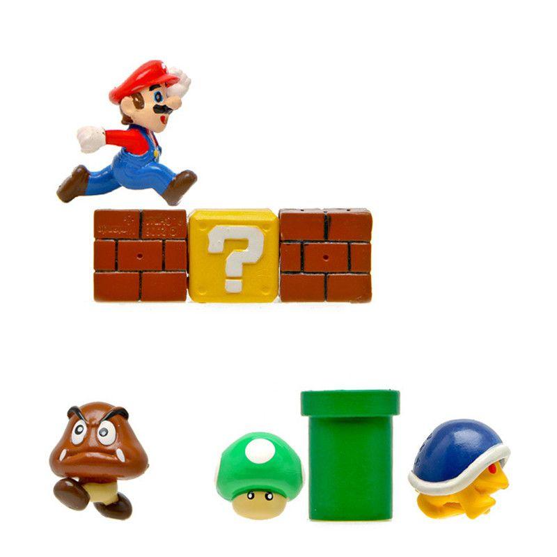 2020 2 Cm Mmini Super Mario Bros Bowser Kupa Yoshi Mario Luigi Mushroom Pvc Drawing Toy Horse Gift For