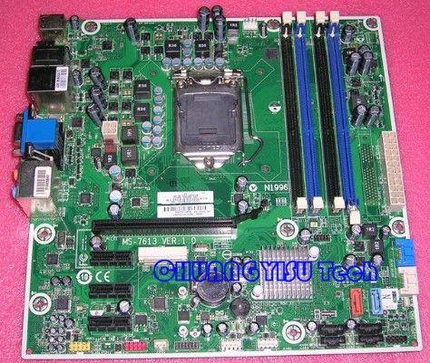 원래 메인 보드 용 산업 장비 보드 575765-001, GL8E MS-7613 H57, 소켓 1156, DDR3, 완벽하게 작동 함
