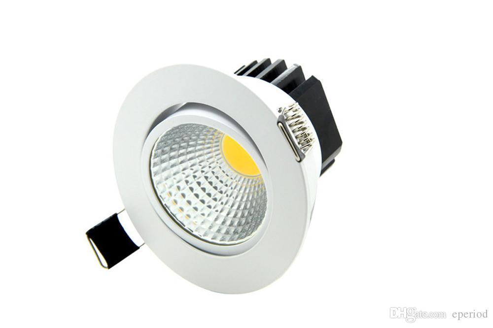 new styles 50bef 5e670 Super Bright Recessed LED Downlight Dimmable COB Down Light 5W 7W 9W 12W  LED Spot Light AC85 265V LED Decoration Ceiling Lamp Wall Downlights Ip44  ...