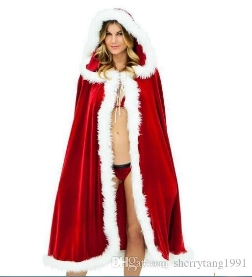 Christmas Party Dress Up Themes.Sexy Long Christmas Suits Costume Red Hats Christmas Cloak Party Dress Up Women Christmas Lady Clothes Cosplay Velvet Shawl Cloack Halloween Costumes