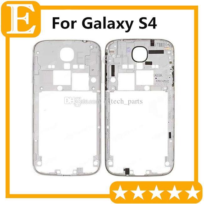 Рамка Назад Средний Корпус для Samsung Galaxy S4 i9500 i9505 против i337 I545 L720 среднего кадра ободок сменной пластины белого цвета 10pcs / lot