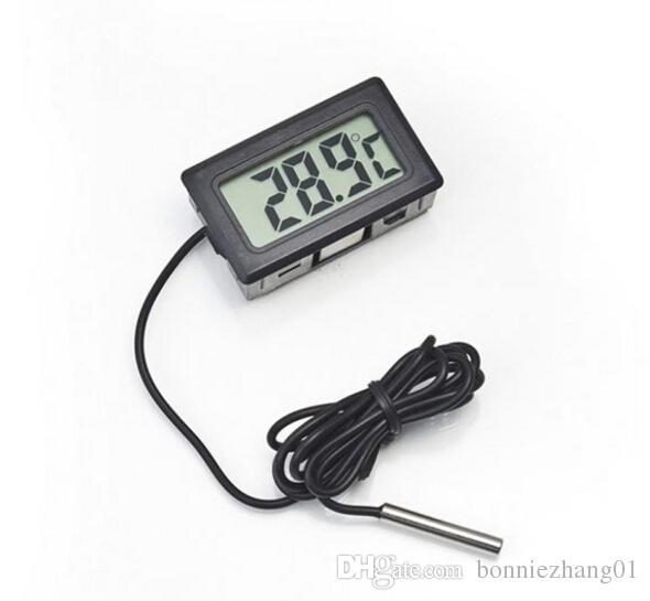 60pcs NOUVEAU LCD thermomètre numérique Aquarium congélateur température intérieure compteur station météorologique outil extérieur Météo diagnostic