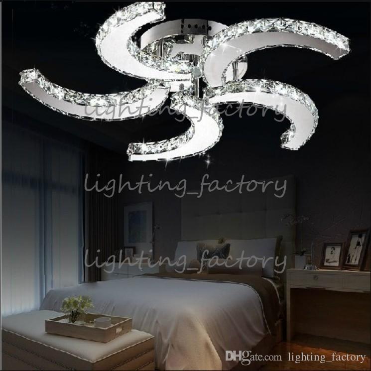 nuevo estilo moderno de cromo 3/5 aspas del ventilador de techo brillo del LED se enciende lámparas de cristal, luz de bulbo llevada para cenar al decorativa habitación
