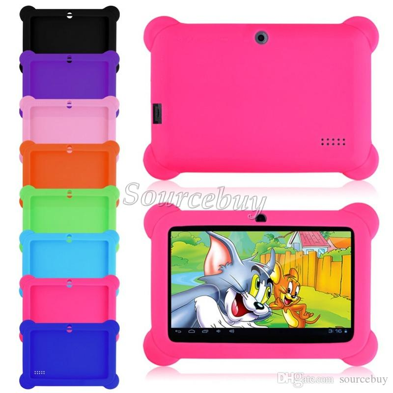 Падение сопротивления антипылевым дети ребенок мягкая силиконовая резина гель чехол для Q88 Q8 A33 7 дюймов Android Tablet PC дети подарки 30 шт.