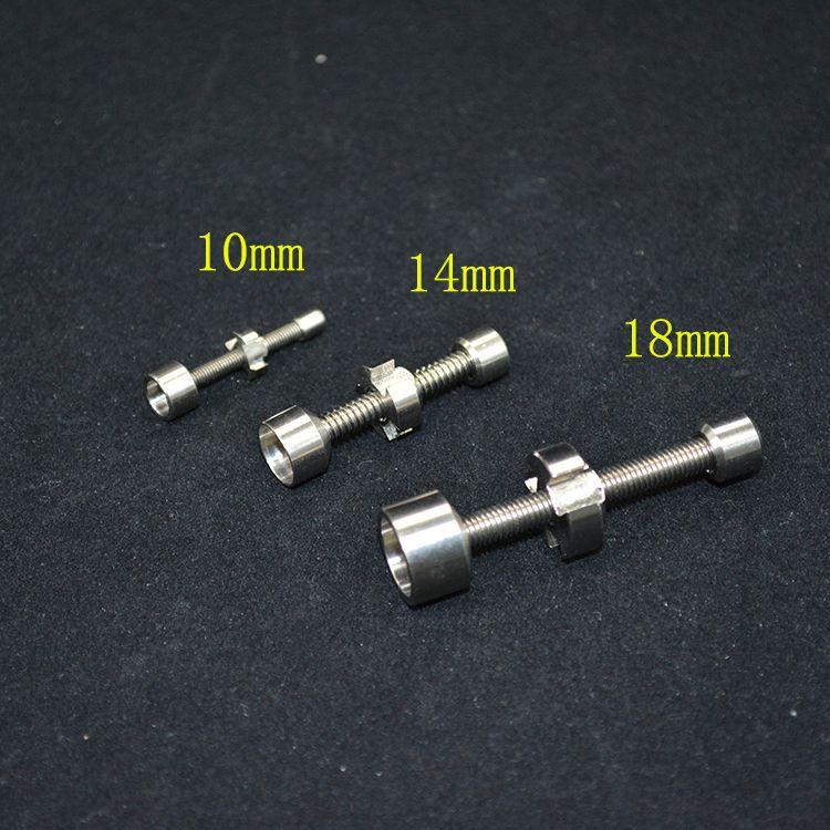 티타늄 네일 10mm 14mm 18mm 금속 파이프를 클릭하십시오 향 글로브 오일 조작에 대한 n vape 세라믹 못 유리 워터 봉 도구 액세서리