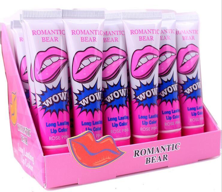 Tear lip gloss New Lipstick Tear Non makeup Stick Durable Waterproof 6 Color Lip Gloss Lip Biting Wholesale Sexy Magic Hot Foreign Trade
