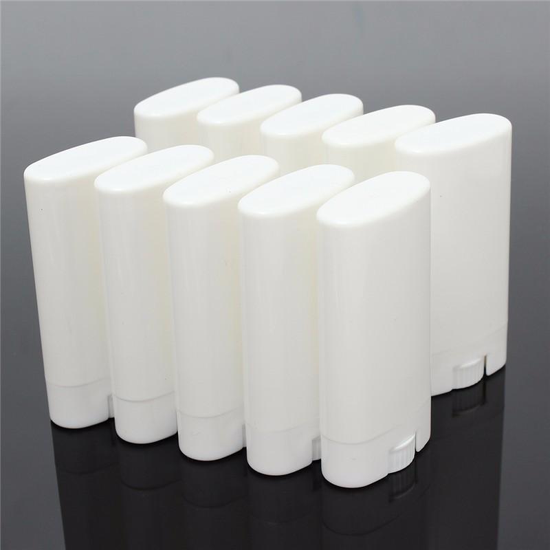 1000 pezzi 15g di plastica vuoti fai da te ovale balsamo per le labbra tubi portatili deodoranti contenitori chiaro bianco rossetto moda fresco lip tubi