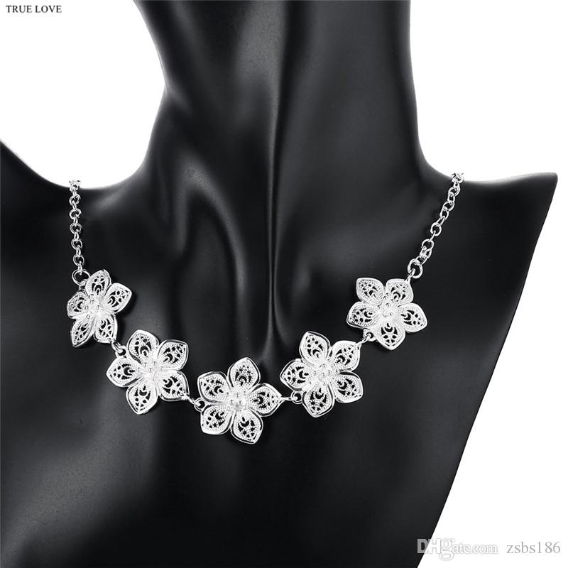 Retro style hollow flower chokers necklace fashion jewelry for women romantic bridal gift top quality free shipping