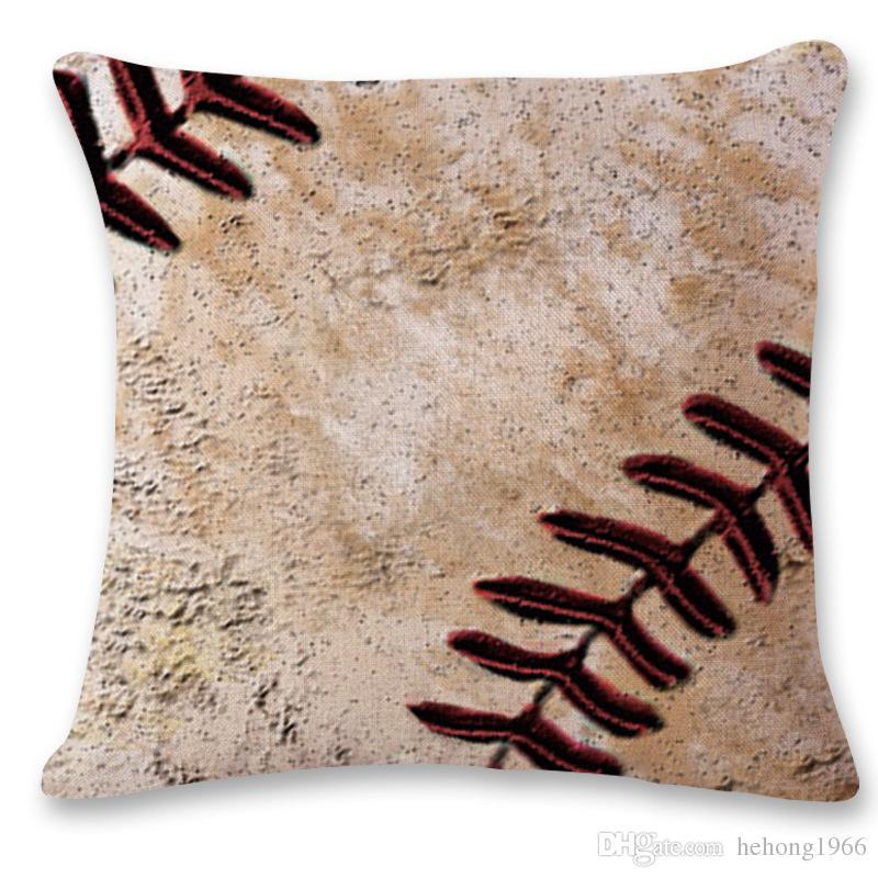 Pillowcase Cotton Linen Square Rugby Series Vintage Baseball Sofa And Car Cushion Cover Durable Home Decor Hot 7hs F R