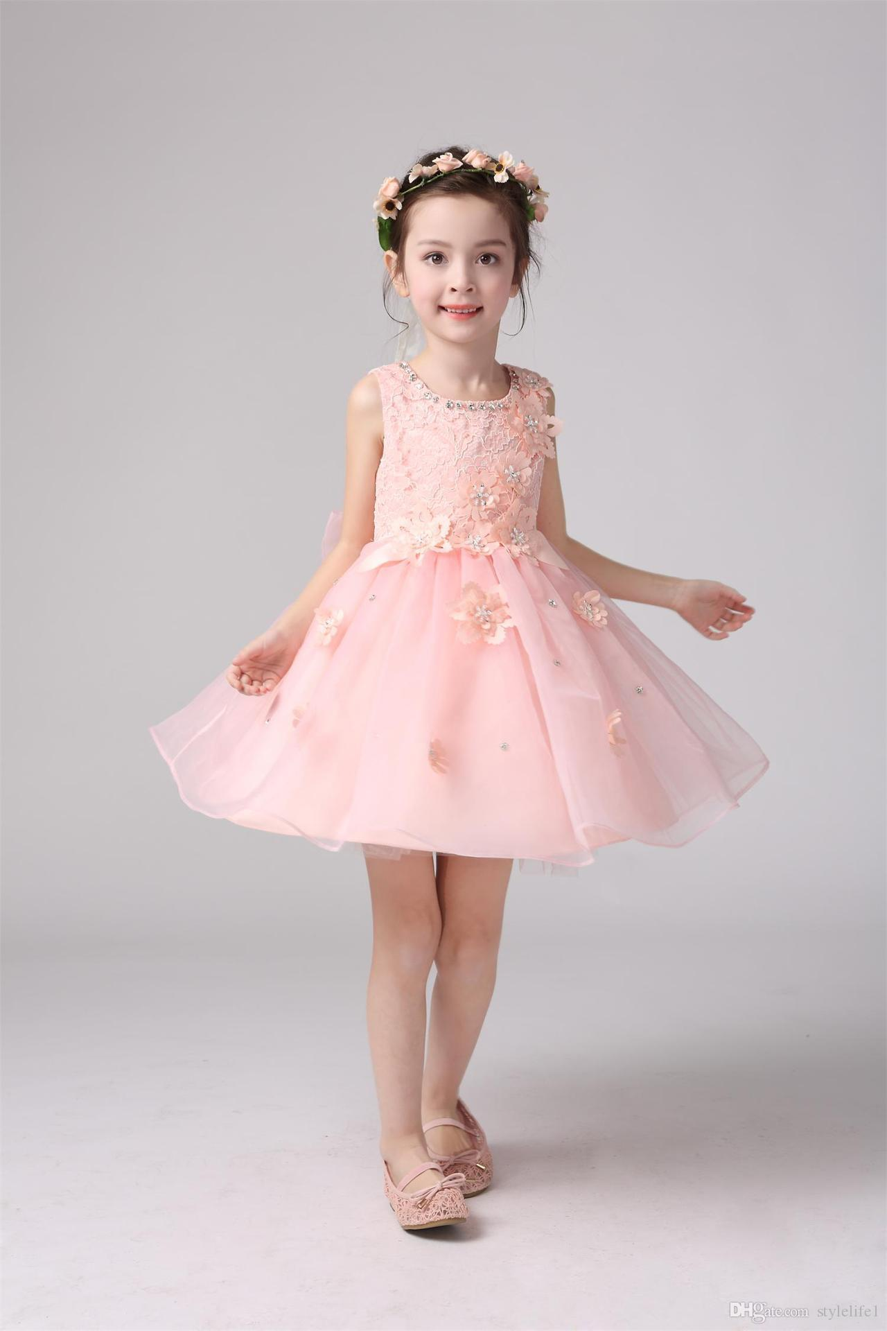 2016 New Design Childrens Clothing Princess Bridesmaid Flower Girl