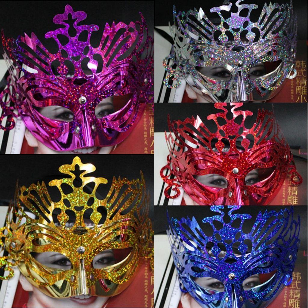 Hombres Mujeres Máscaras de la corona Máscaras de disfraces Bar Club Máscaras de Halloween para la fiesta Día de San Valentín Graduación Show Masks