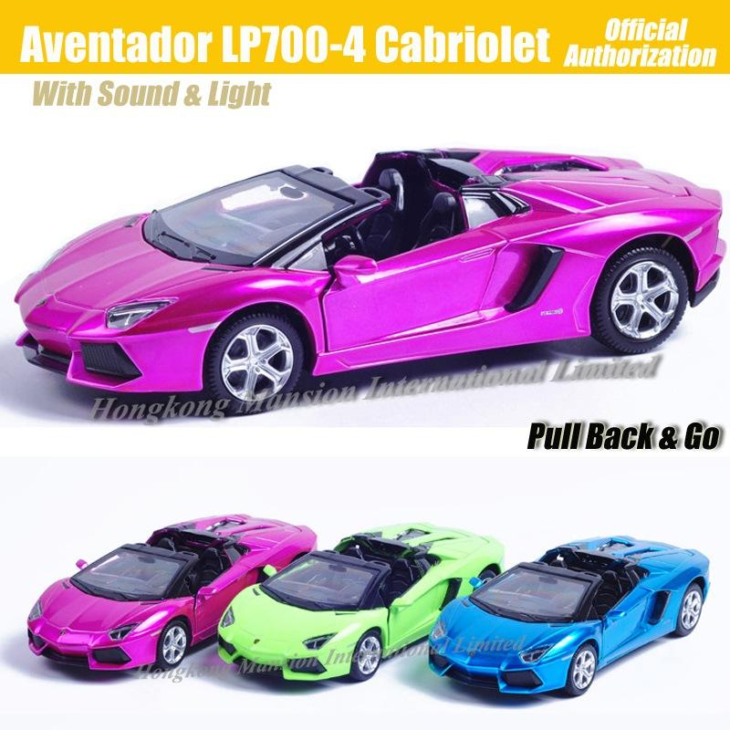 1:32 Scale Luxury Diecast Alloy Metal Super Sports Car Model For Aventador LP700-4 Cabriolet Collection Model Pull Back Toys Car