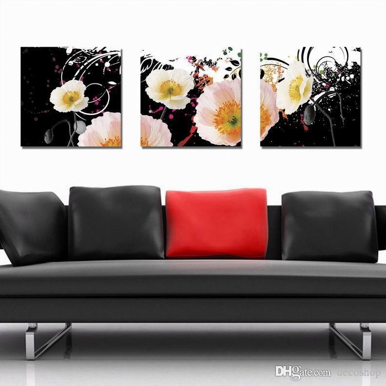 현대 아름 다운 꽃 괜 찮 아 요 꽃 그림 Giclee 인쇄 캔버스 홈 장식 벽 예술 Set30346