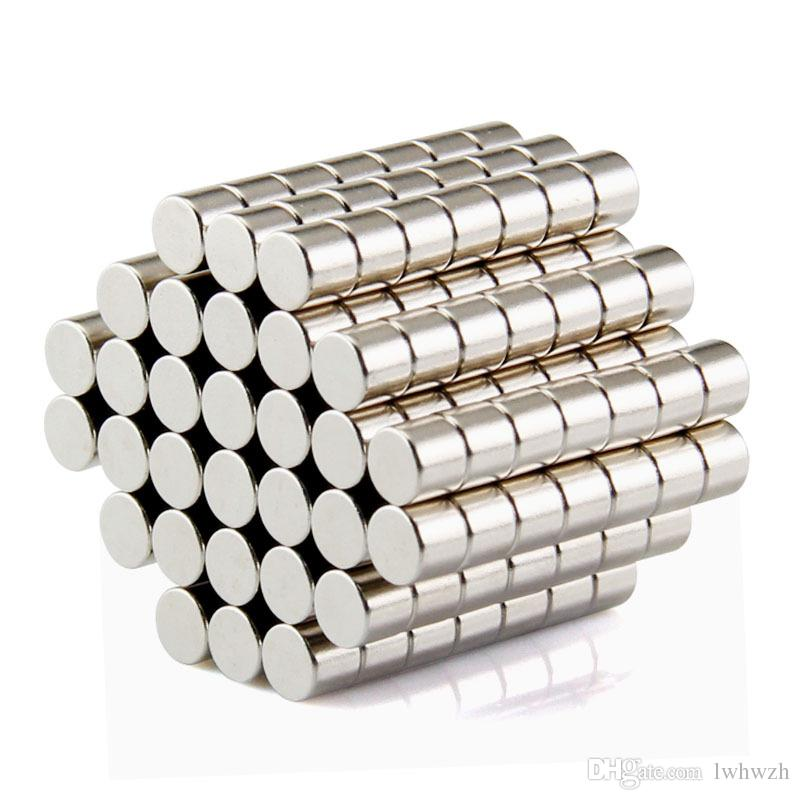 Wholesale - In Stock 200pcs Strong Round NdFeB Magnets Dia 5x4mm N35 Rare Earth Neodymium Permanent Craft/DIY Magnet Free shipping
