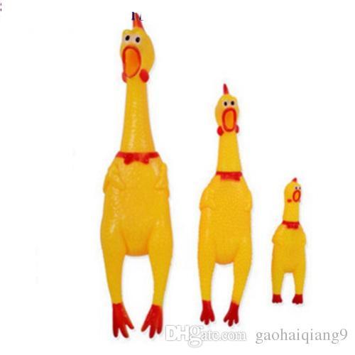 41 سنتيمتر مضحك تنفيس طويل الرقبة الدجاج المتوسطة الصراخ الدجاج الصوت الضغط صراخ لعب الأطفال طفل لعبة
