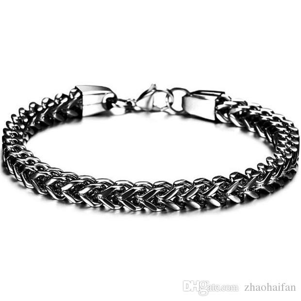 Accessoires de mode Prix de gros bijoux New Classic acier inoxydable hommes Bracelets et bracelets Golden / Black / Silver GS671