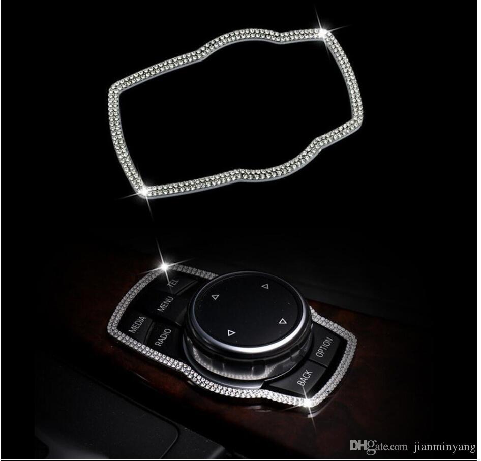 멀티미디어 버튼 BMW 3 4 5 시리즈 GT X1 X3 X5 용 프레임 커버 트림