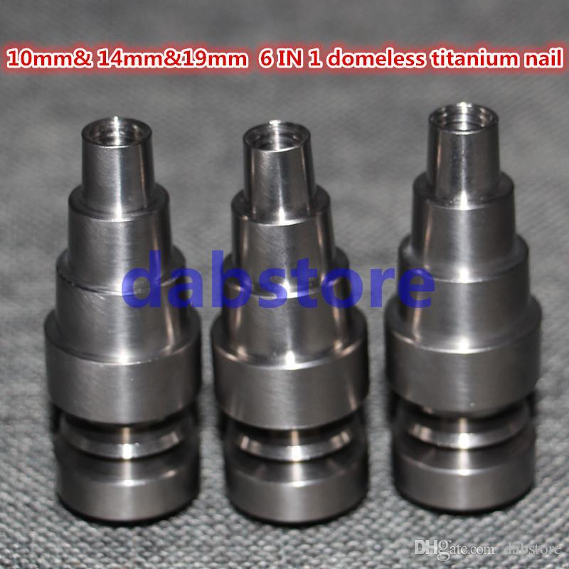 Ferramentas manuais GR2 Domeless Titanium unha 14mm18mm 6 em 1 Domd-unha v1.2 cabeça infiniti híbrido 20mm dnail