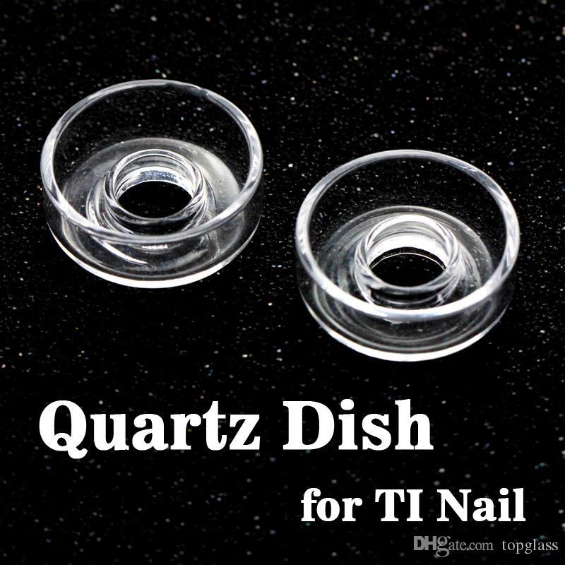 Alta Qualidade Pure Cristal Quartzo Tigela Prato Carb Cap Encaixe Colorido Titanium Domeless Nails para bongos de vidro, dab oil rigs frete grátis