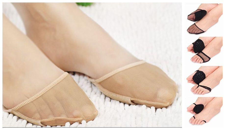 Frauen Nylon Nicht-Show Anti-Rutsch Vorfuß Pad Casual Socken Liner Unsichtbare Fußpflege Vorne Einlegesohlen Socken Bequeme Footwears Strumpfwaren