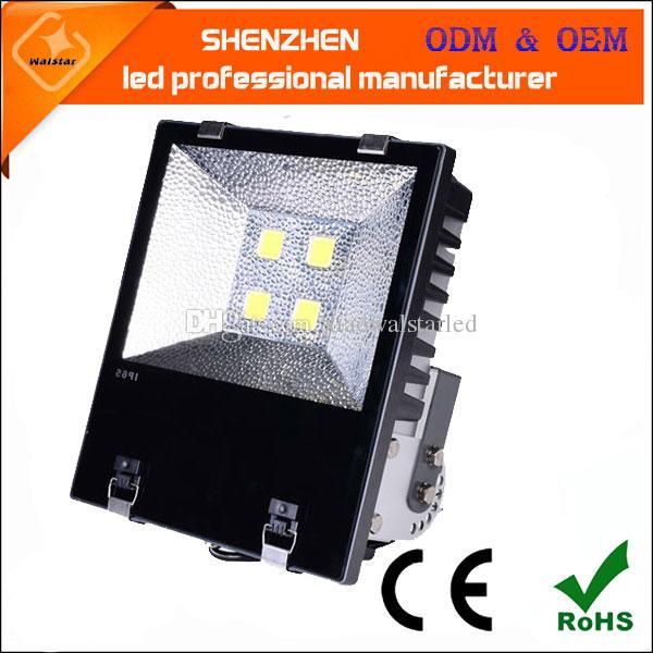 Spotlight LED Projector 200W 150W 100W 70W 50W 30W 20W 10W Refletor Led Flood Luz parede impermeável ao ar livre Lâmpada Projetores
