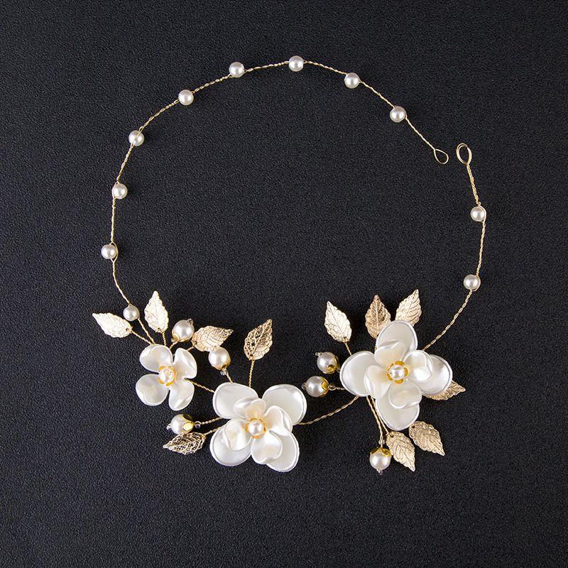 New Fashion Pearl Flower Headpiece Wedding Women Hair Accessories Special Occasion Bridal Headpiece Headbands Free Shipping