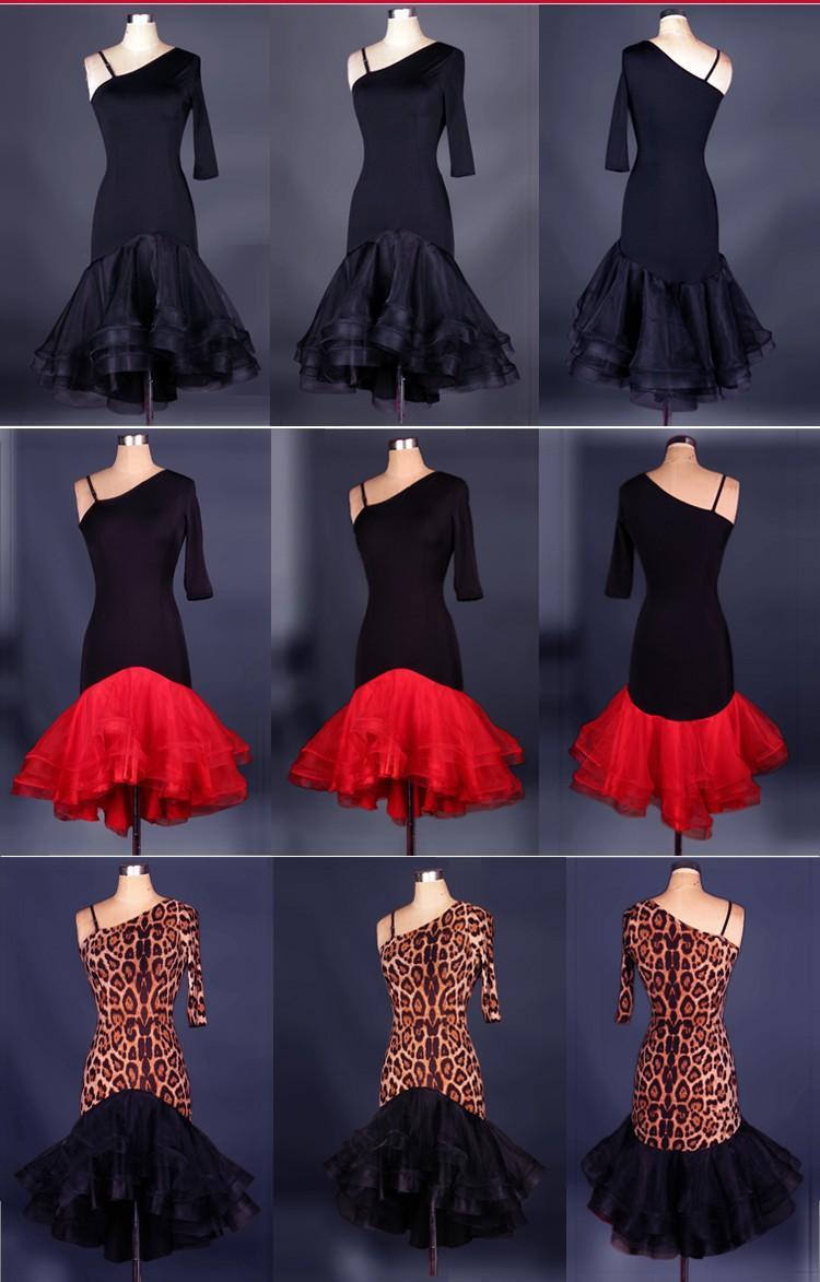 Vestito da ballo latino per adulti / bambini su misura per donna Nero Cha Cha / Rumba / Samba Fitness Lady / Girls Vestidos Infantis De Festa Roupas de Meninos