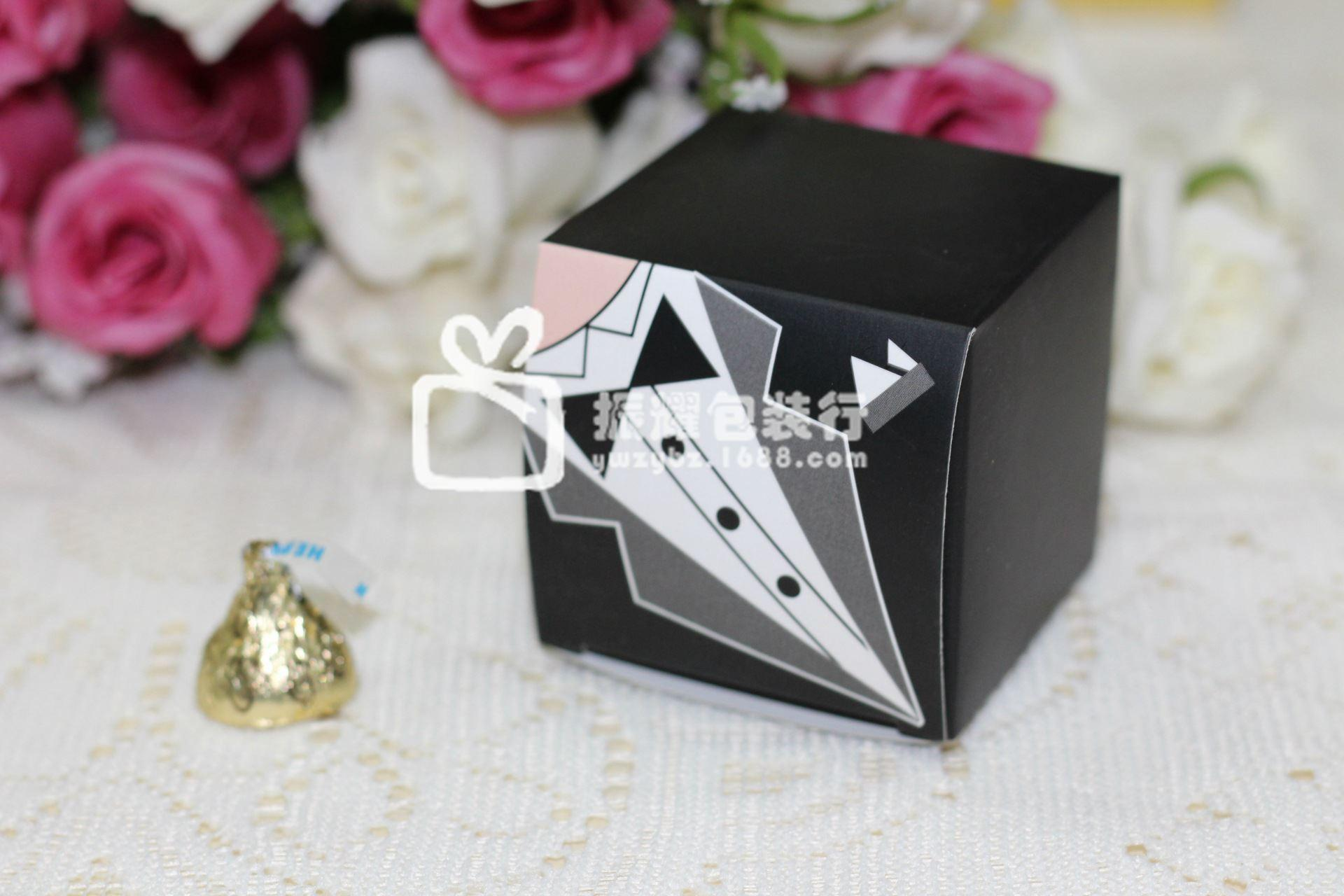 6cm The Bride And Groom Wedding Box Style Suit Candy Box Creative ...