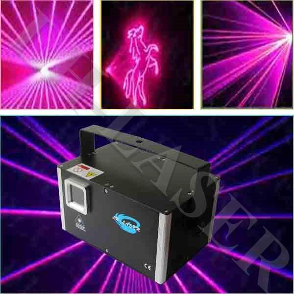 LH-SAM1000 DMX512 ILDA 인터페이스 1000mw 로즈 컬러 조명 클럽 또는 야간 파티 용 프로그래밍 가능한 디스코 레이저 라이트