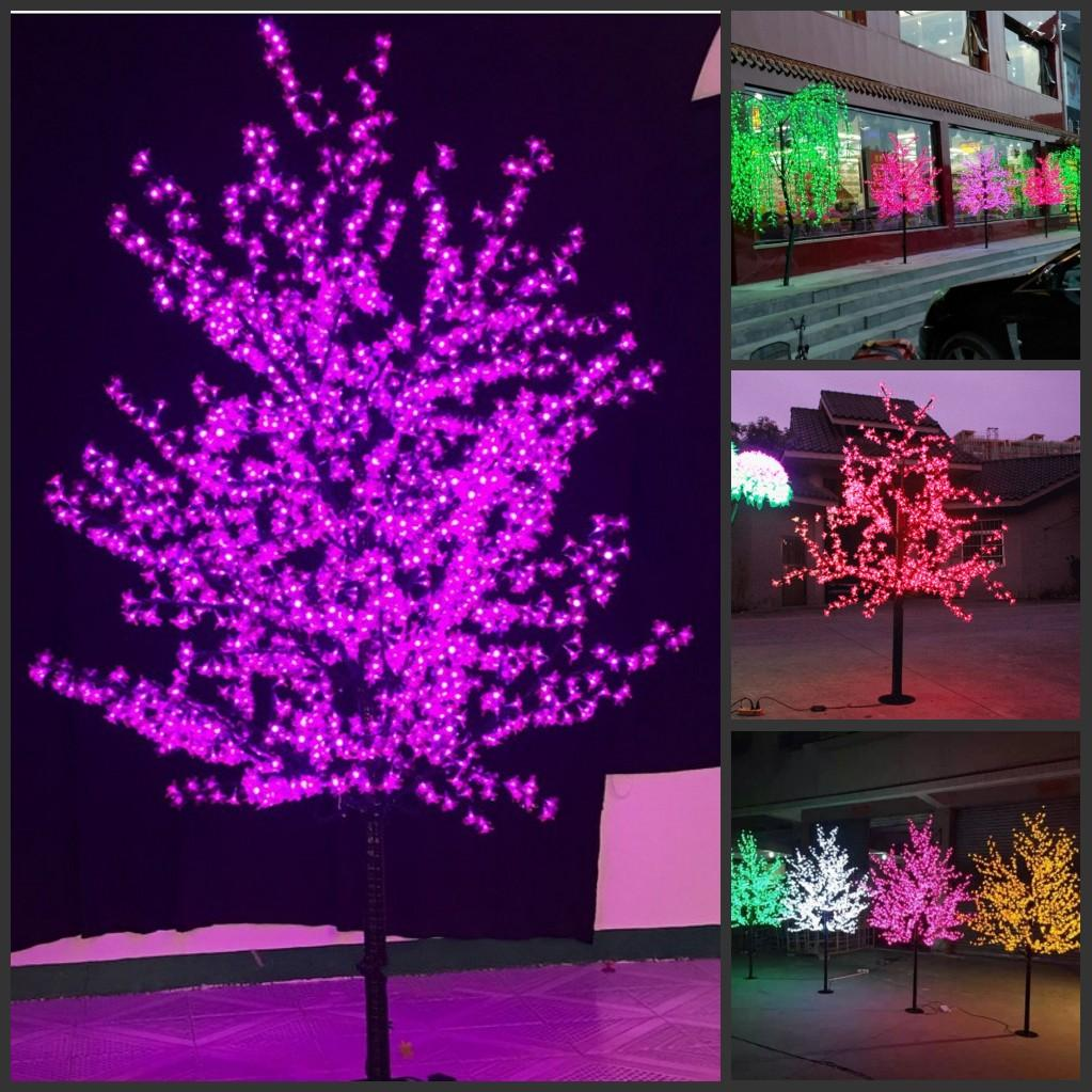 LED Christmas Light Cherry Blossom Tree 480pcs LED Bulbs 1.5m/5ft Height Indoor or Outdoor Use Free Shipping Drop Shipping Rainproof
