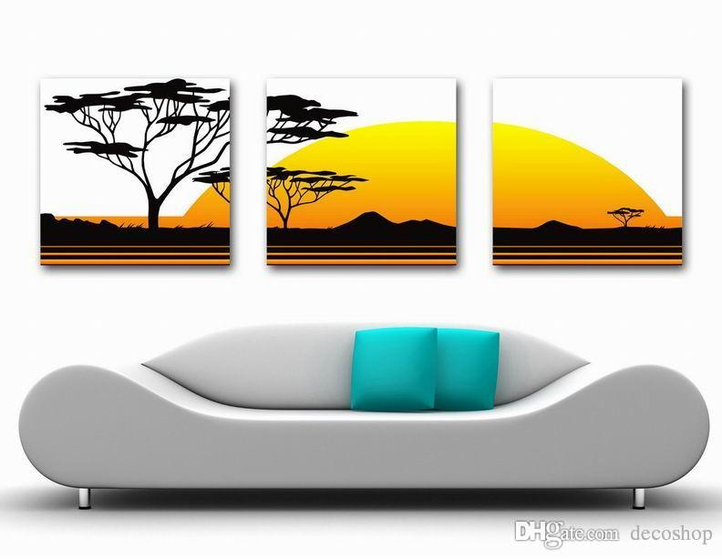 Modern Fine Abstract Tree Painting Giclee Print On Canvas Wall Art Home Decoration Set30356