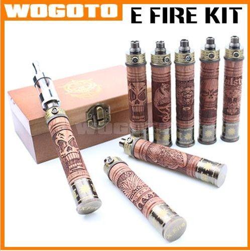 X-Fire E Cig E Fire Vaporizer Pen Variable Voltage Glass Tank E-Fire X-Fire Wood Battery Kit E-Fire Wood Vaporizer With Protank 2 Atomizer