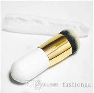 Round Flat Makeup Brush BB Cream Concealer Foundation Powder Brushes Synthetic Fifber Face Cosmetic Brush Make Up Beauty Tool
