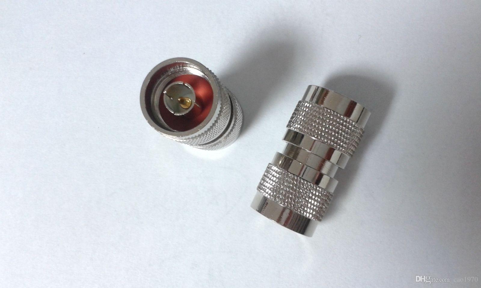2pcs cobre N Male Plug a N Plug adaptador RF directo