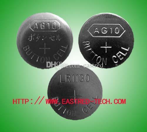 2000pcs AG10 / Lot, AG10 LR1130 389 SR1130 189 LR54 V10GA 1,5 V Alkali-Knopfzellenbatterie frei von Quecksilber
