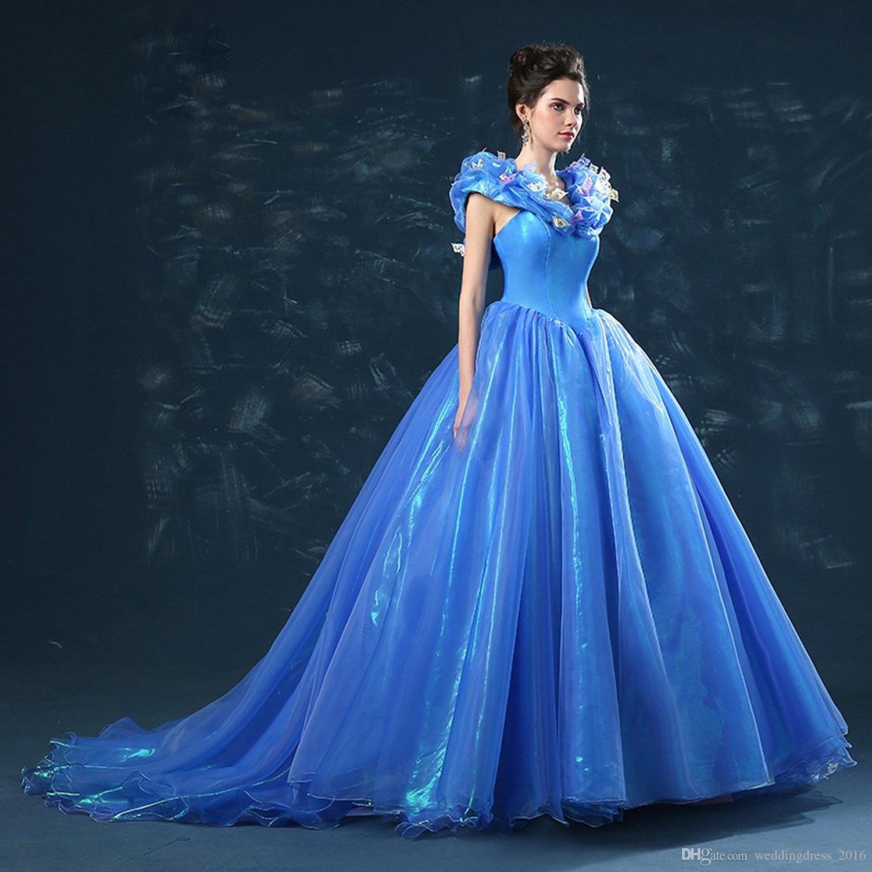 Cinderella Ball Gowns Women Evening Dresses Custom Made Long Prom ...