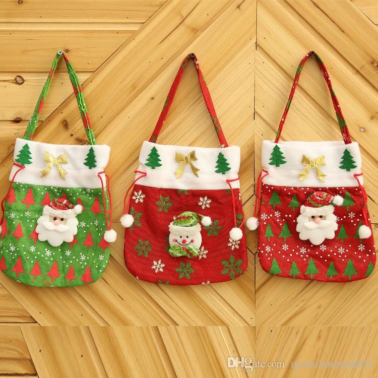 Sacchetti per regali natalizi Sacchetti per regali natalizi Sacchetti per caramelle di Natale Sacchetti per regali di Natale Sacchetto di Natale per regali di caramelle