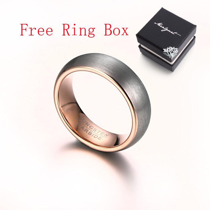 Brand New Карбид вольфрама кольцо розовое золото покрыло обручальные кольца для женщин и мужчин Оптовые Мужские украшения