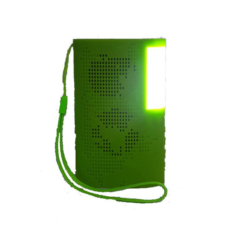 Mini Sem Fio Bluetooth Speaker Música Ao Ar Livre Surround Player Som de Áudio com Foto Luz Livro Luzes