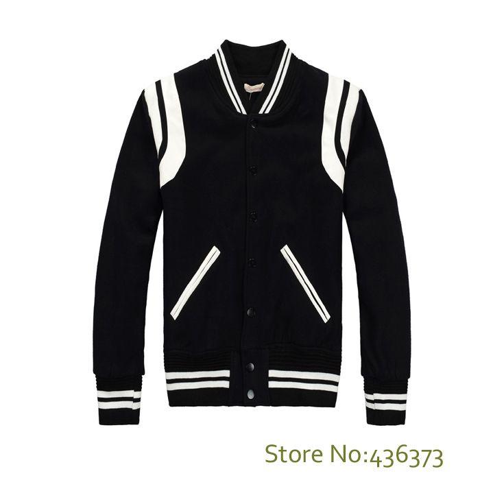 Caída-de alta calidad estrella se ve de moda para hombres chaquetas de letterman para hombres con capucha Hip Hop Chaqueta Varsity