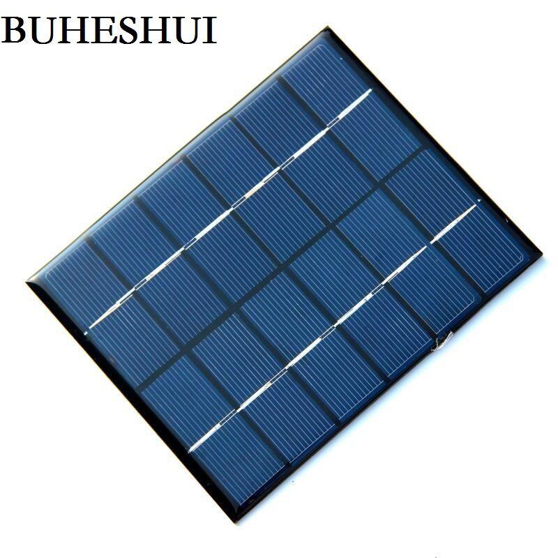 BUHESHUI 6V 0.33A 2W مصغرة الألواح الشمسية الطاقة الشمسية 3.7V البطارية تهمة الخلايا الشمسية التعليم أطقم الايبوكسي 136 * 110 * 3 مم